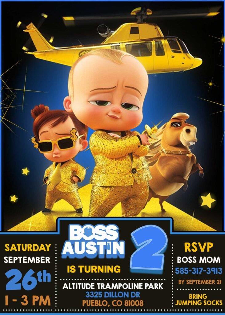 Boss Bbay Birthday Invitation