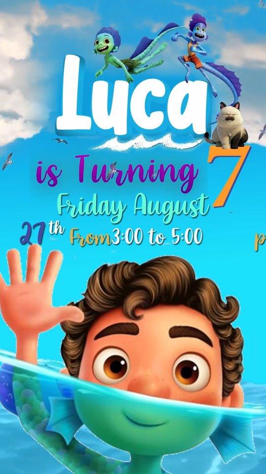 Luca Birthday Invitation